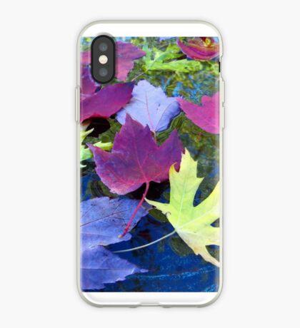 Leaves in a Birdbath iPhone Case