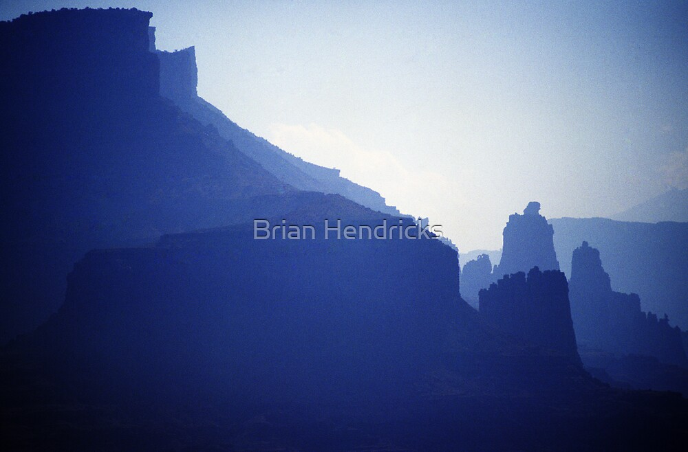 Castle Valley Silhouette by Brian Hendricks