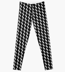Ecentrik Artistry EA logo Leggings (white/black) Leggings