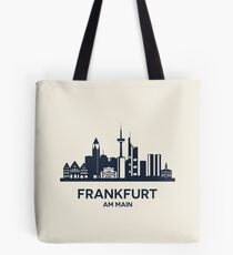 Frankfurt Skyline Emblem Tote Bag