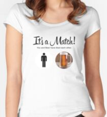 Its a Match! Beer Women's Fitted Scoop T-Shirt