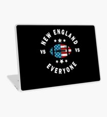 Funny Distressed New England VS Everyone Laptop Skin