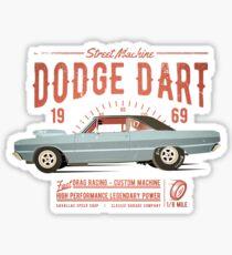 Dodge Dart Dragster Street Machine 1969 Glänzender Sticker