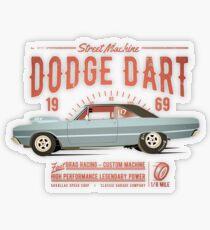 Dodge Dart Dragster Street Machine 1969 Transparenter Sticker