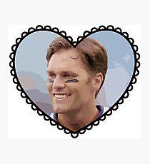 Patriots Tom Brady Heart Photographic Print