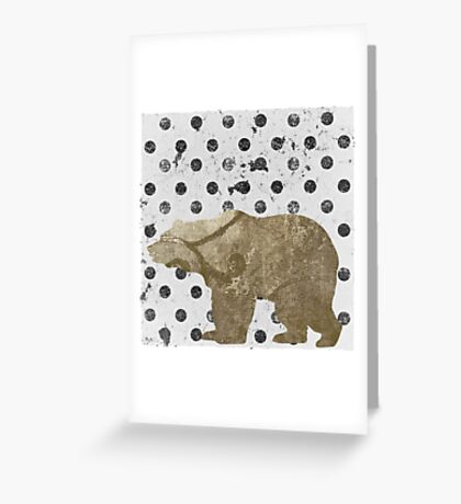 Forest Glam Bear Greeting Card