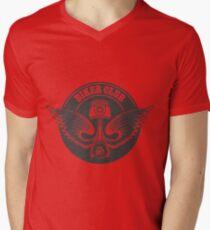 Biker Club Emblem Men's V-Neck T-Shirt
