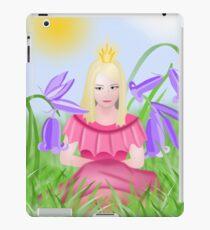 Petite blonde princesse porte du rose iPad Case/Skin