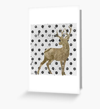 Forest Glam Deer Greeting Card