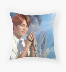 BTS Jimin Praying meme Throw Pillow