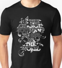 """Gandhi """"Be the change you want to see in the world"""" tee Unisex T-Shirt"""