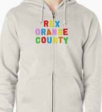 Rex Orange County Merch Zipped Hoodie