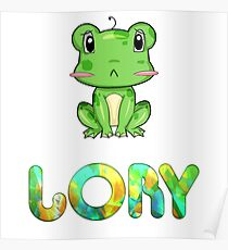 Lory Frog Poster