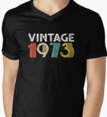 Vintage 1973 - 45th Birthday Men's V-Neck T-Shirt