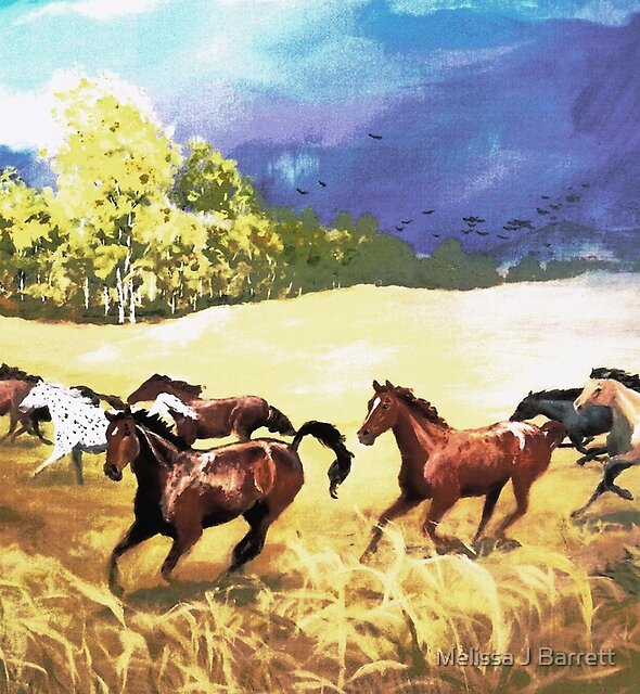 Horses Running With the Wind by Melissa J Barrett