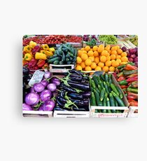 Healthy Vegetables From A Roman Market Canvas Print