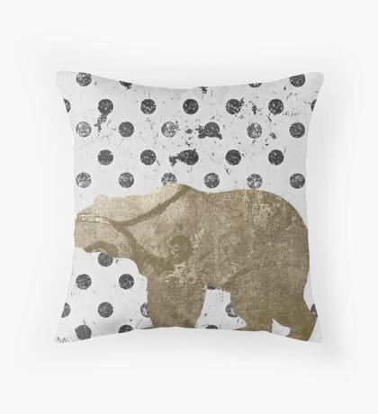 Forest Glam Bear Throw Pillow