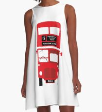 London Red Bus A-Line Dress