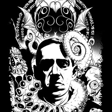 H.P. Lovecraft and Cthulhu by ContraB