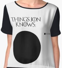 Jon Snow knows nothing Chiffon Top