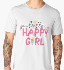 Little happy girl Valentine's Day Men's Premium T-Shirt