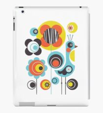 Retro Bird Amongst The Flowers iPad Case/Skin