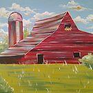Country Barn, Farm Scene by Melissa Fryer