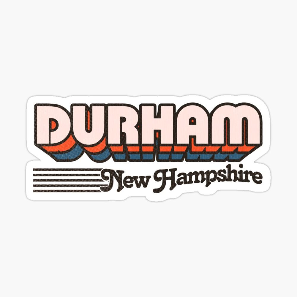 Durham, New Hampshire   Retro Stripes Sticker