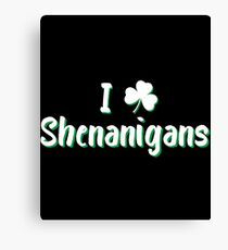 I Love Clover Shenanigans Gift For Paddys St Patricks Day T-Shirt Sweater Hoodie Iphone Samsung Phone Case Coffee Mug Tablet Case Canvas Print