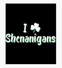 I Love Clover Shenanigans Gift For Paddys St Patricks Day T-Shirt Sweater Hoodie Iphone Samsung Phone Case Coffee Mug Tablet Case Photographic Print