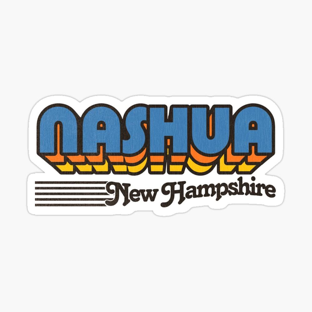 Nashua, New Hampshire   Retro Stripes Sticker