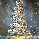 Painterly Christmas Tree by Melissa Fryer