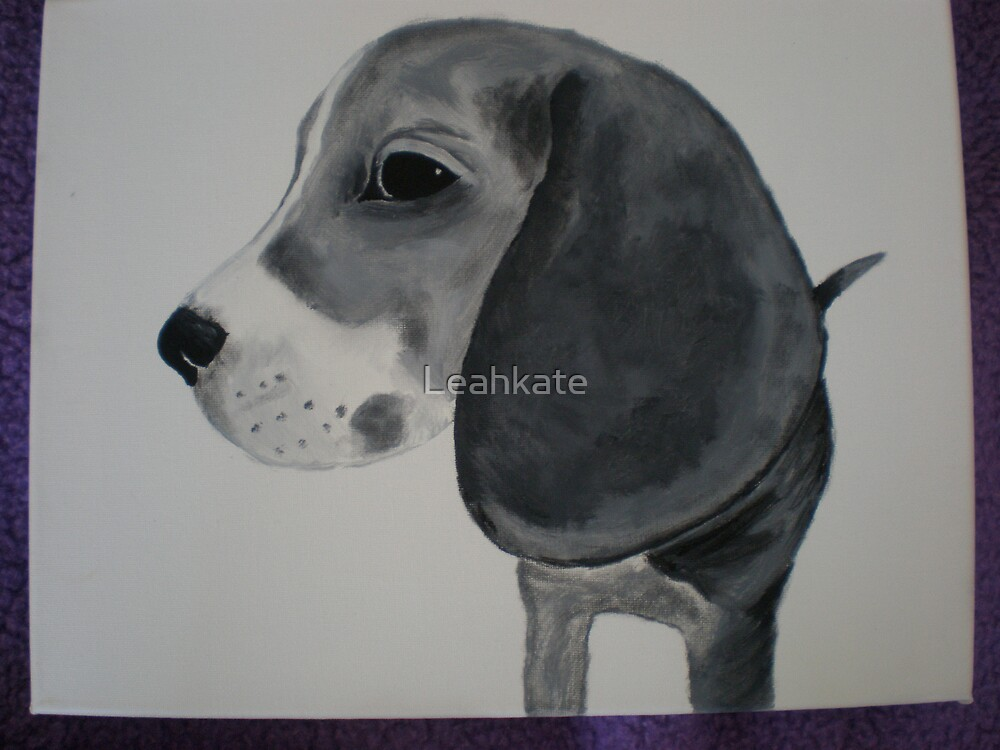 Painted Beagle by Leahkate