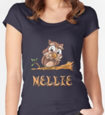 Nellie Owl Women's Fitted Scoop T-Shirt