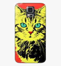 POP ART CAT - YELLOW RED Case/Skin for Samsung Galaxy