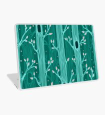 Emerald forest. Seamless pattern with trees Laptop Skin
