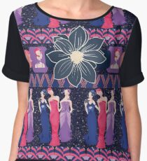 Art Deco Ladies Chiffon Top