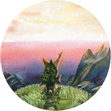 Sunset Korok- Legend of Zelda Oil Painting FanArt by fugitiverabbit