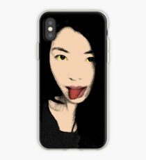 FUNNY GIRL - Pop art tongue iPhone Case