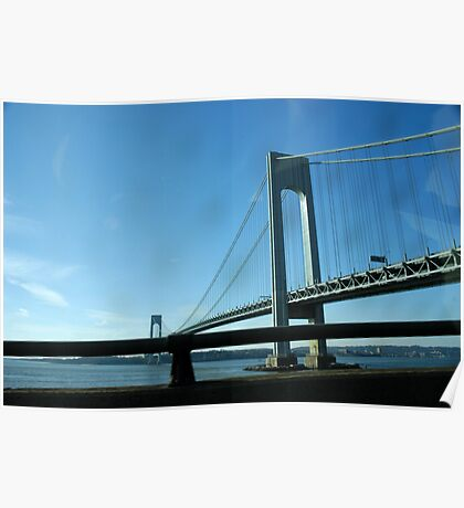 The Verrazano-Narrows Bridge as Seen From the Belt Parkway Poster