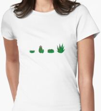 Simple Assorted Succulents  Women's Fitted T-Shirt