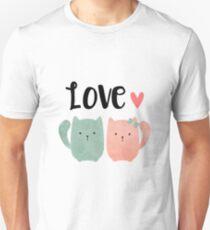 Love Cats Kittens Valentine's Day Unisex T-Shirt