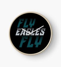 Philadelphia Eagles Fly Eagles Fly Football Graphic Tee Clock