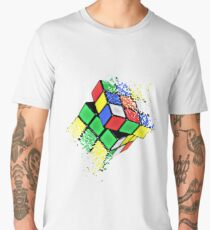 Rubik Cube Shattered Art Men's Premium T-Shirt