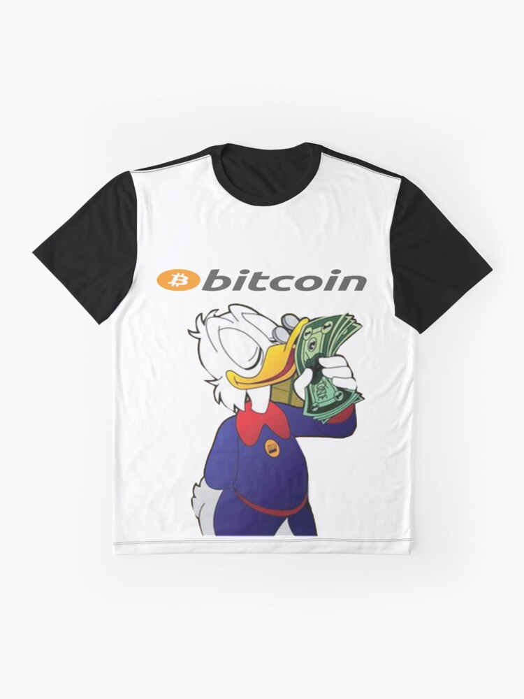 cd34a3f0bd18 Graphic T-Shirt. Bitcoin BTC Crypto Millionaire Scrooge McDuck by  bannertshirts