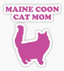 Maine Coon Cat Mom Design - Maine Coon Cat Mom Sticker