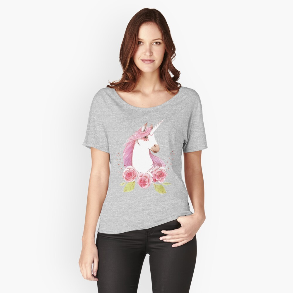 Magical Unicorns in pink Relaxed Fit T-Shirt