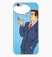 Man in Pop Art Style with Bubble for Expression iPhone Case