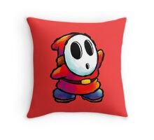 Red Shy Guy Throw Pillow
