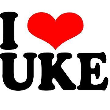 I Love Uke  by grinningskull